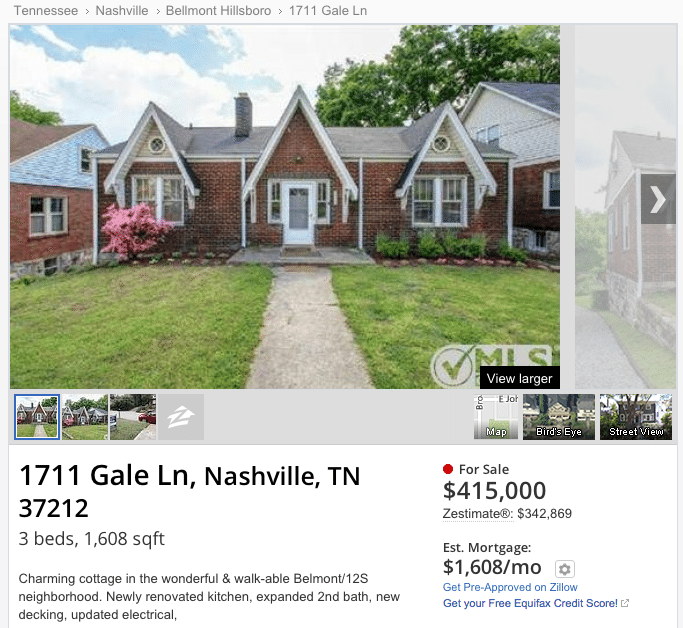 """Houses For Rent Zillow: RealTracs Is Sending Zillow """"degraded"""" Listings"""