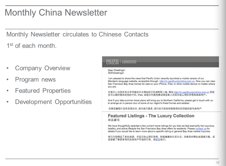 chinese newsletter