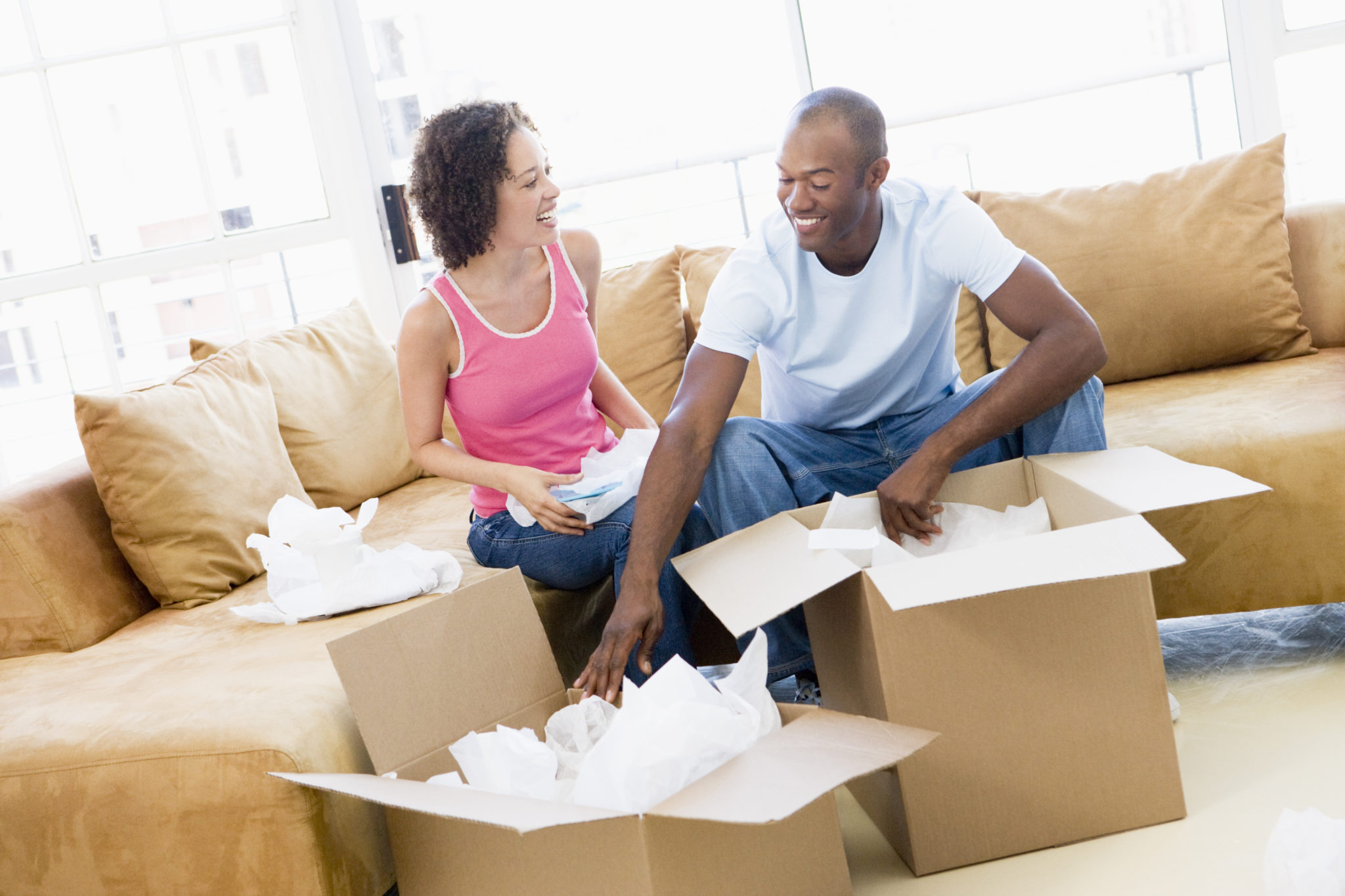 First-time homebuyers image via Shutterstock.
