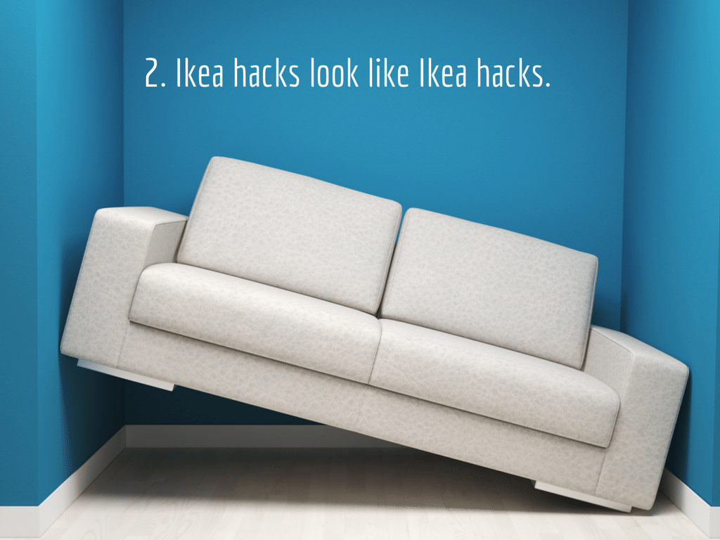 Tilted couch Background image via Shutterstock. Modified.