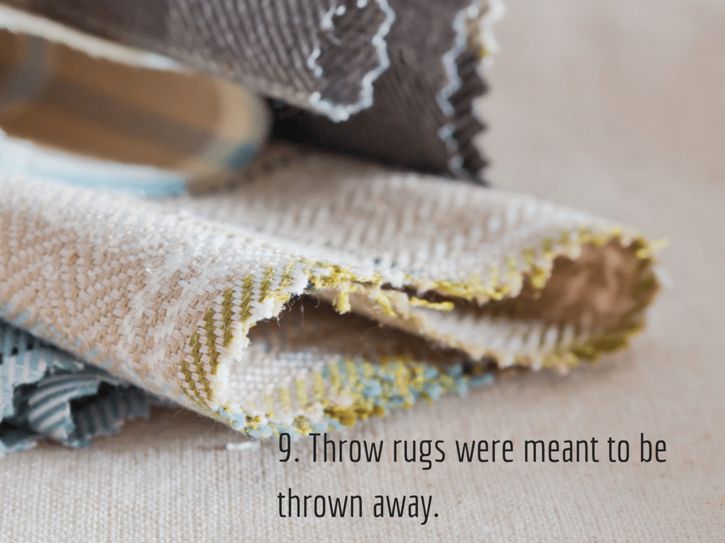 Throw rugs Image via Shutterstock.