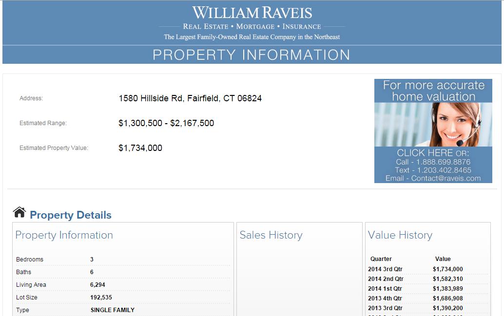 William Raveis RAVestimate