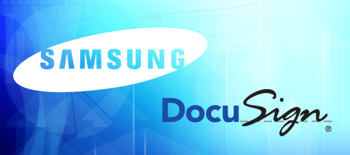 Samsung Ventures backs DocuSign