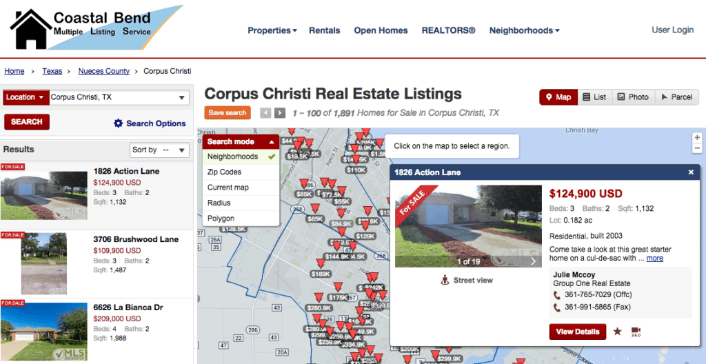 Screenshot showing CCAR's new consumer listing search tool