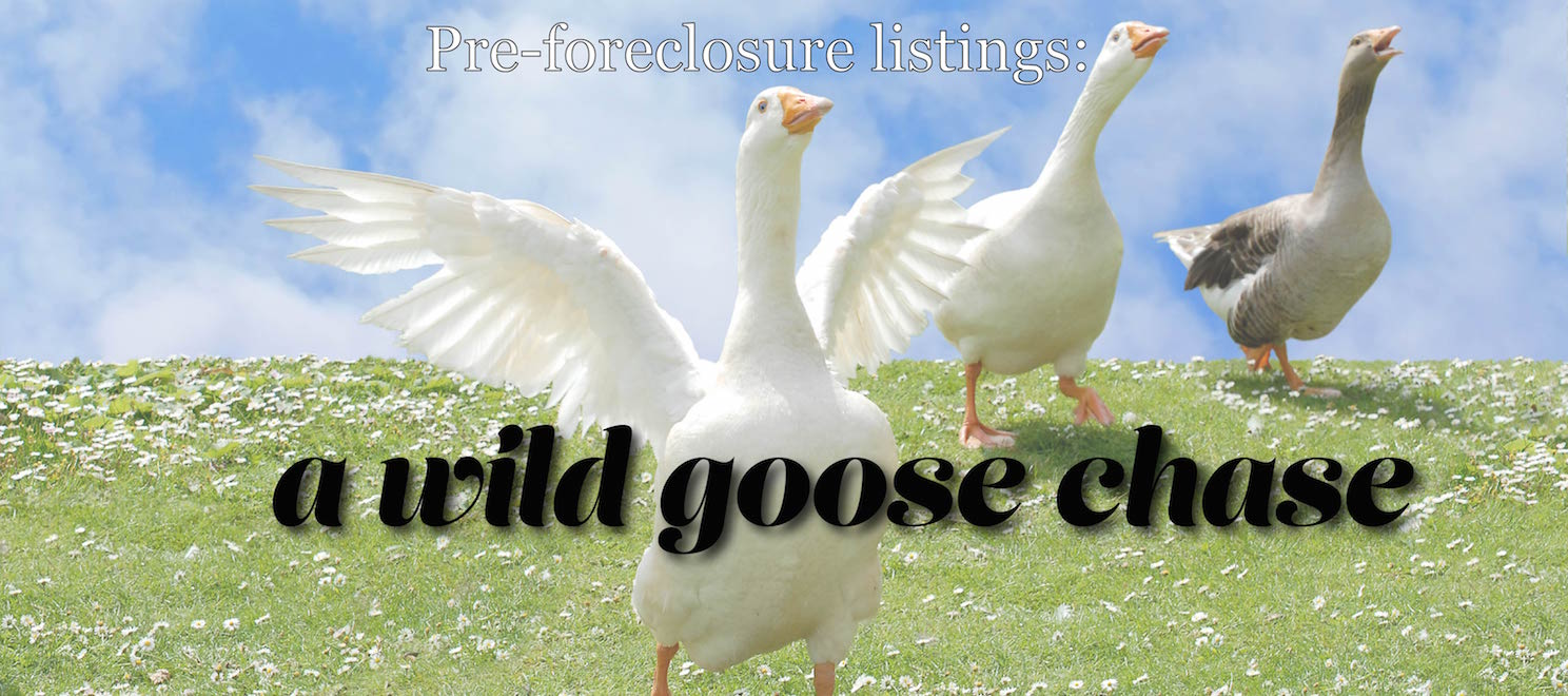 pre-foreclosure listings are wild goose chases for clients