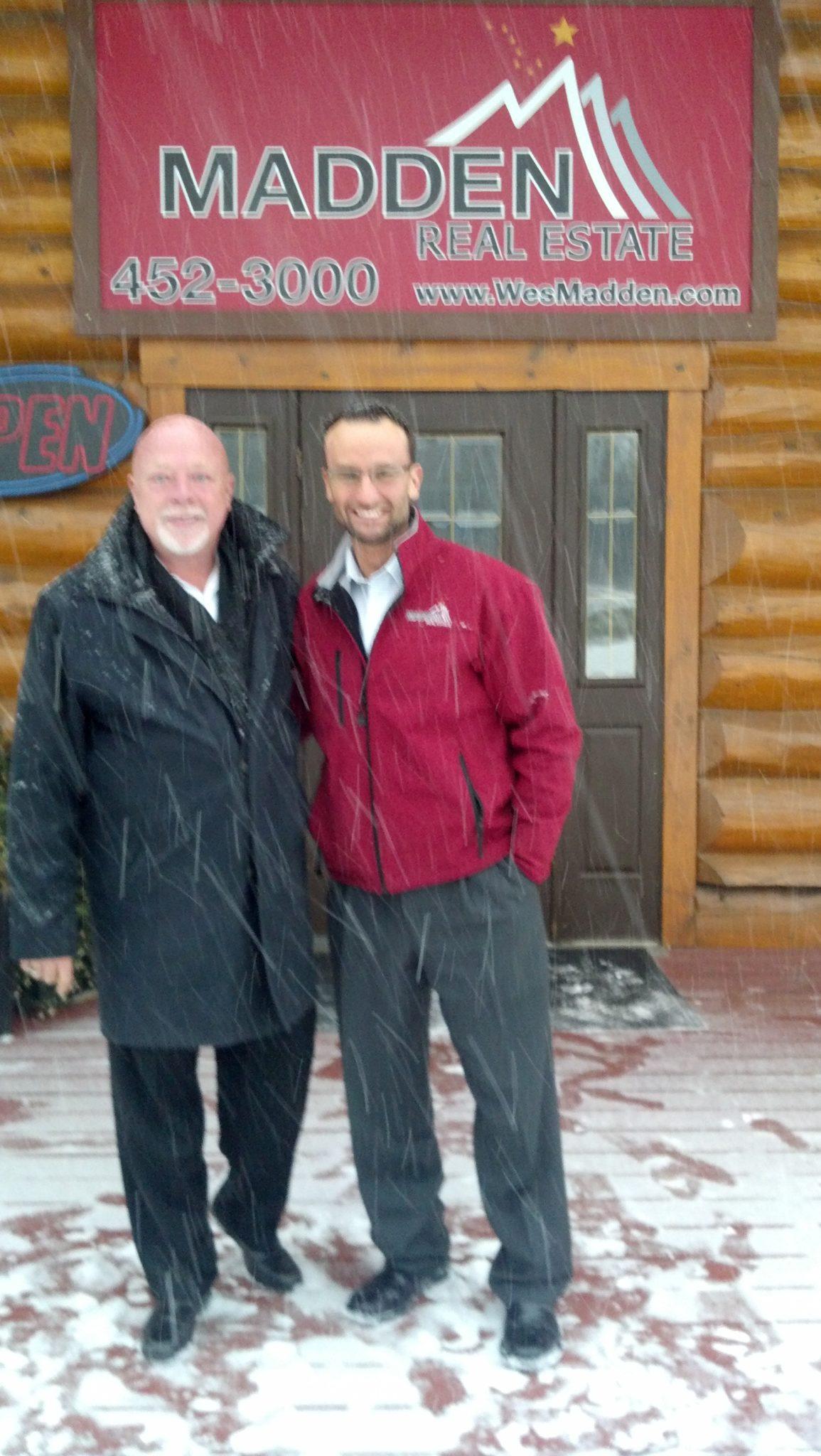 Bob with Wes Madden in Alaska Inman News Photo November 2014
