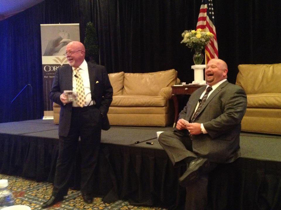 Bob Corcoran with Bubba Mills.