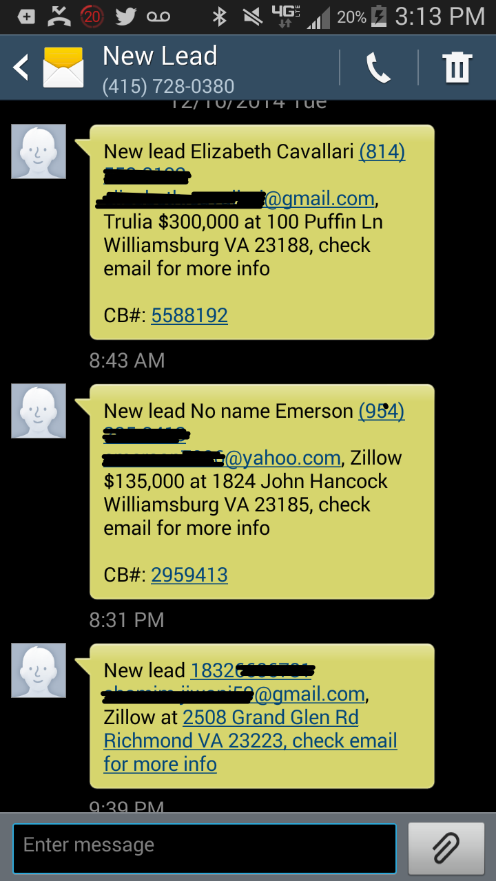 Lead-notification-texts