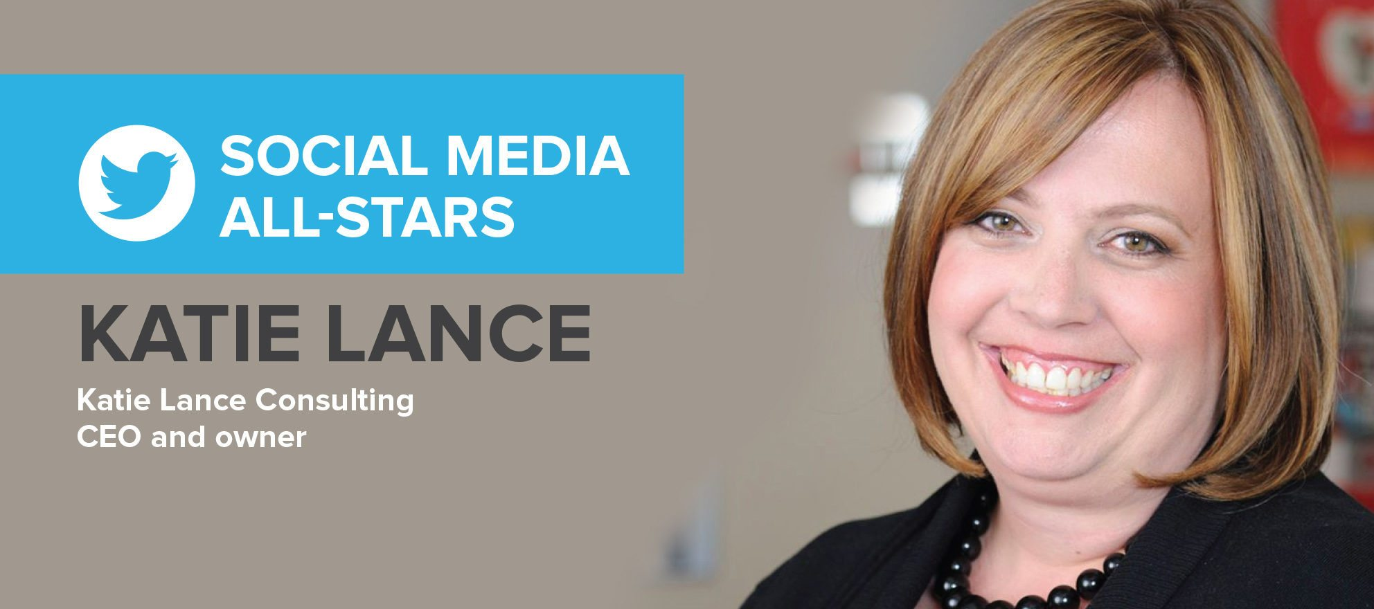 Katie Lance: 'Social media is like being at a dinner party'