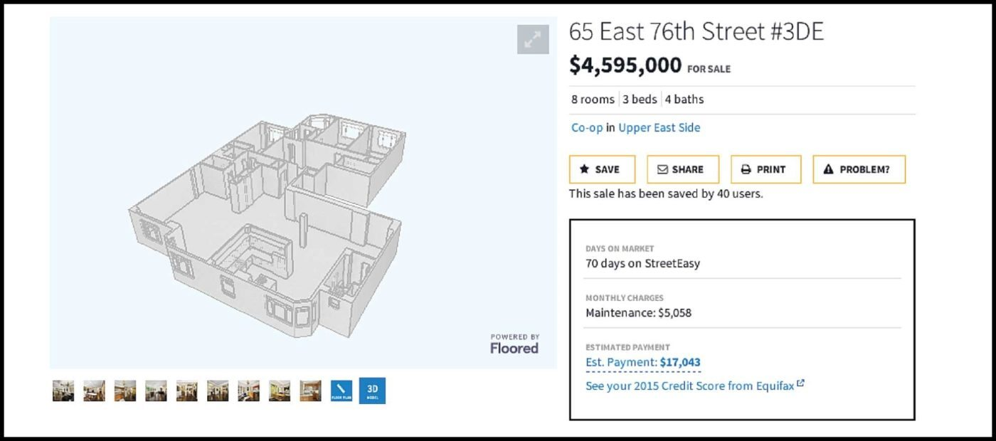 Zillow's StreetEasy adding 3-D floor plans to some listings