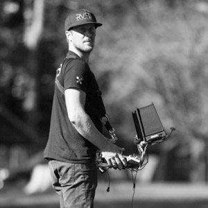Drone pilot Jason Toth
