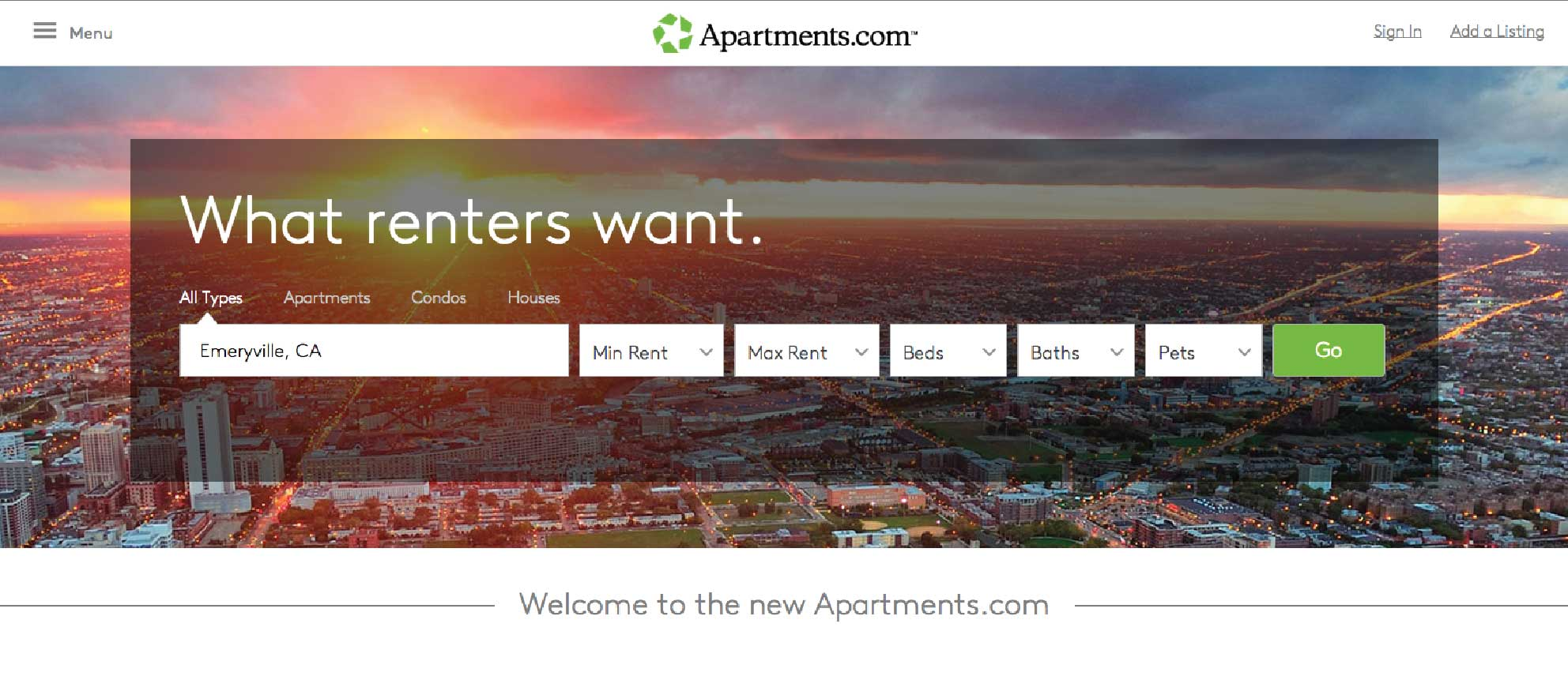 Revamped apartments.com gets $100M coming-out party