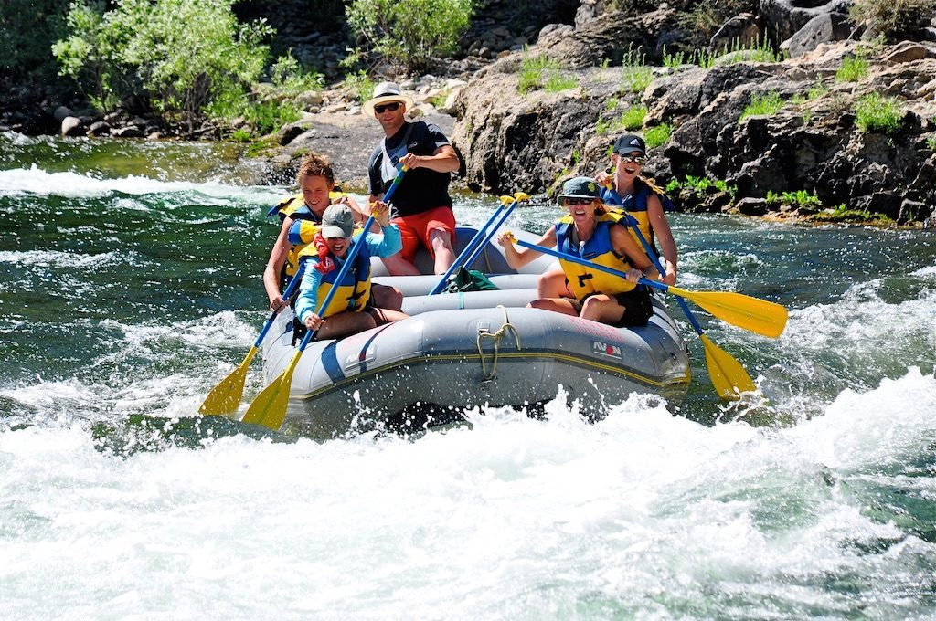 Michael Slavin guides a group on a six-day whitewater rafting trip in Idaho.