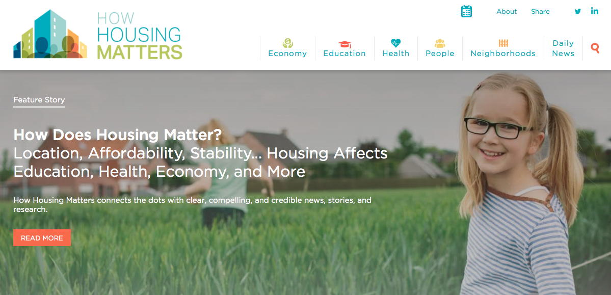 New portal surfaces research on benefits of housing