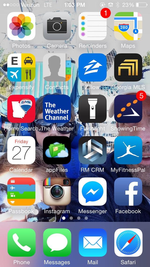 Hank iphone screen shot