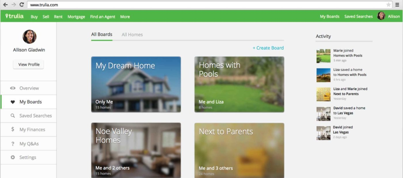 Trulia launches collaborative search feature