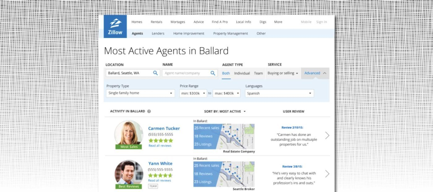 Zillow revamps agent search platform, introduces agent ads