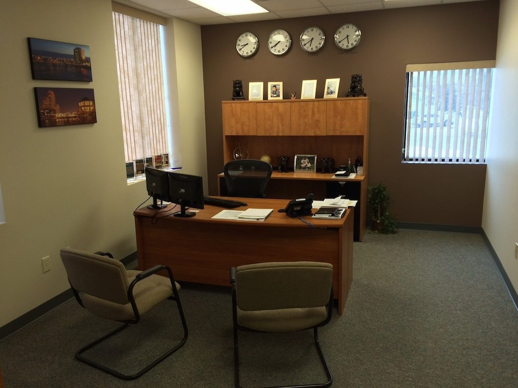 Michael Balsitis' desk.
