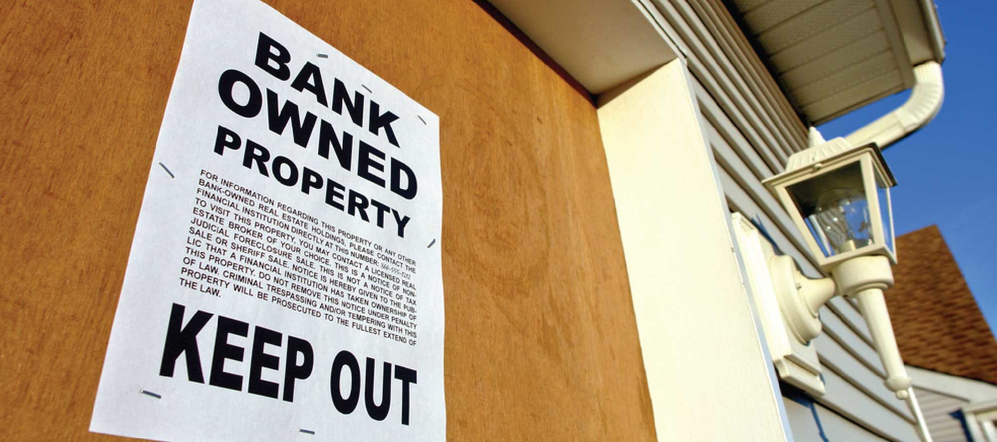 squatter bank owned property