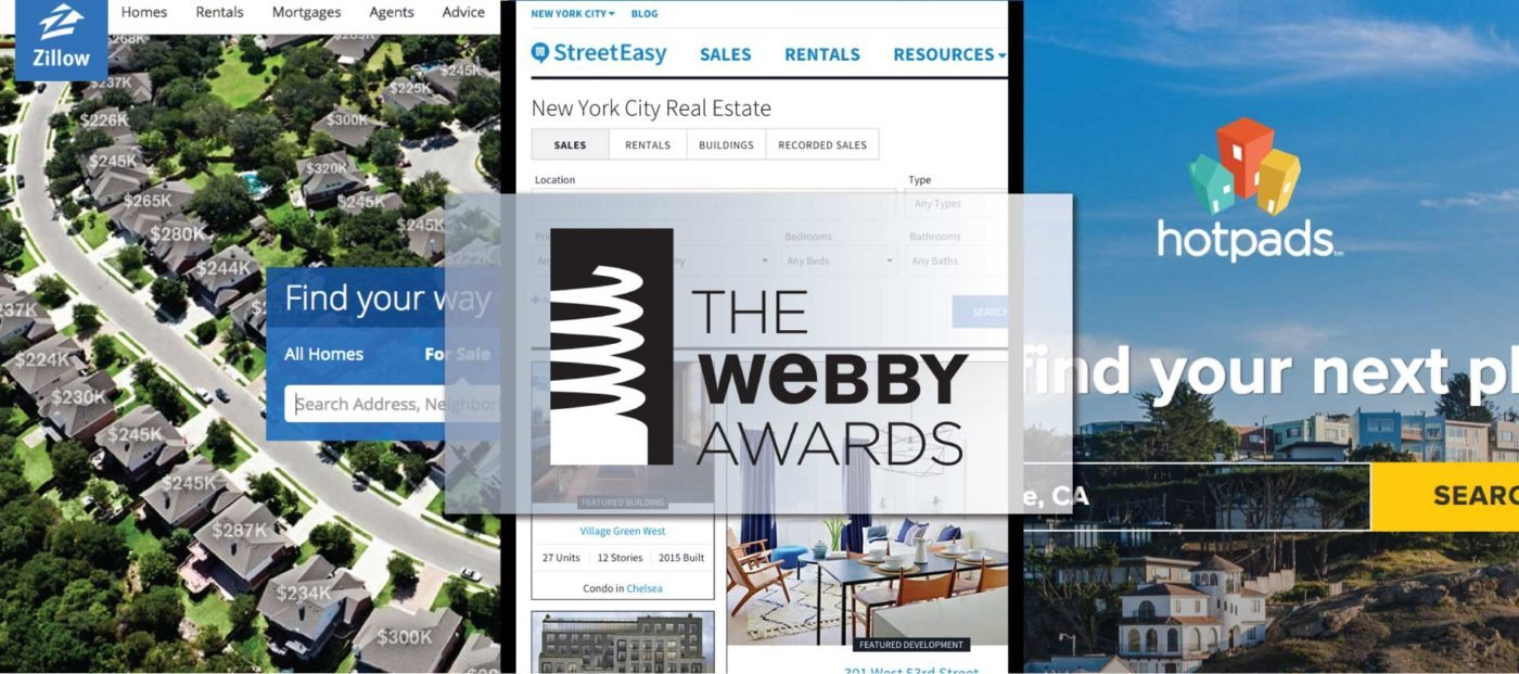 Zillow Group sites clean up at the 'Webbys'