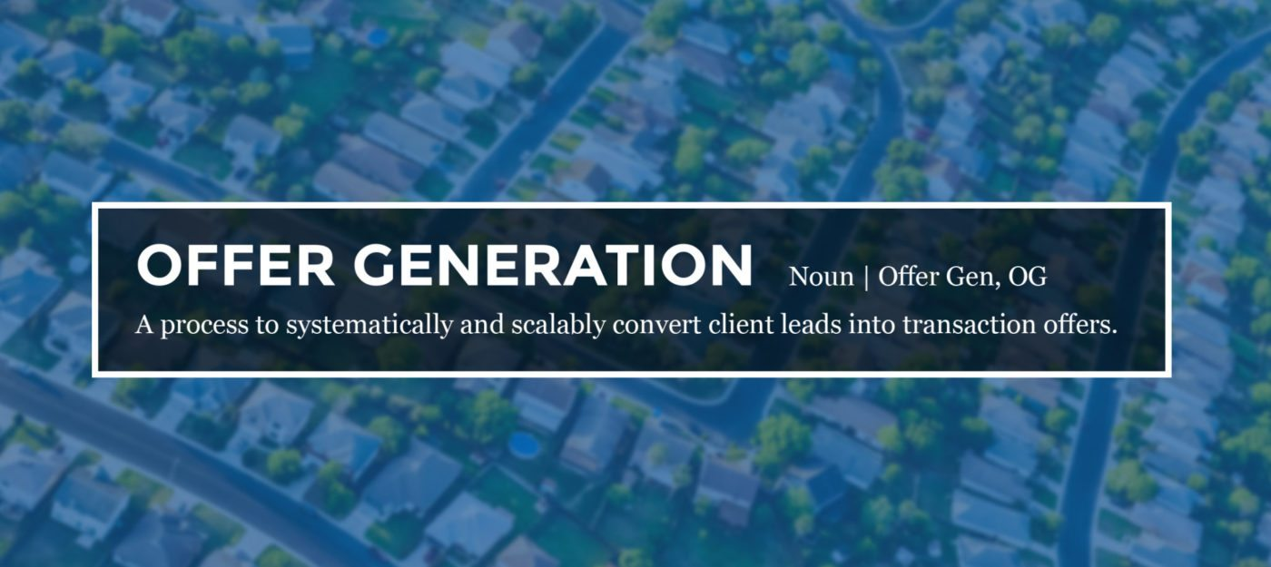 Free yourself from lead gen by focusing on 'offer generation'