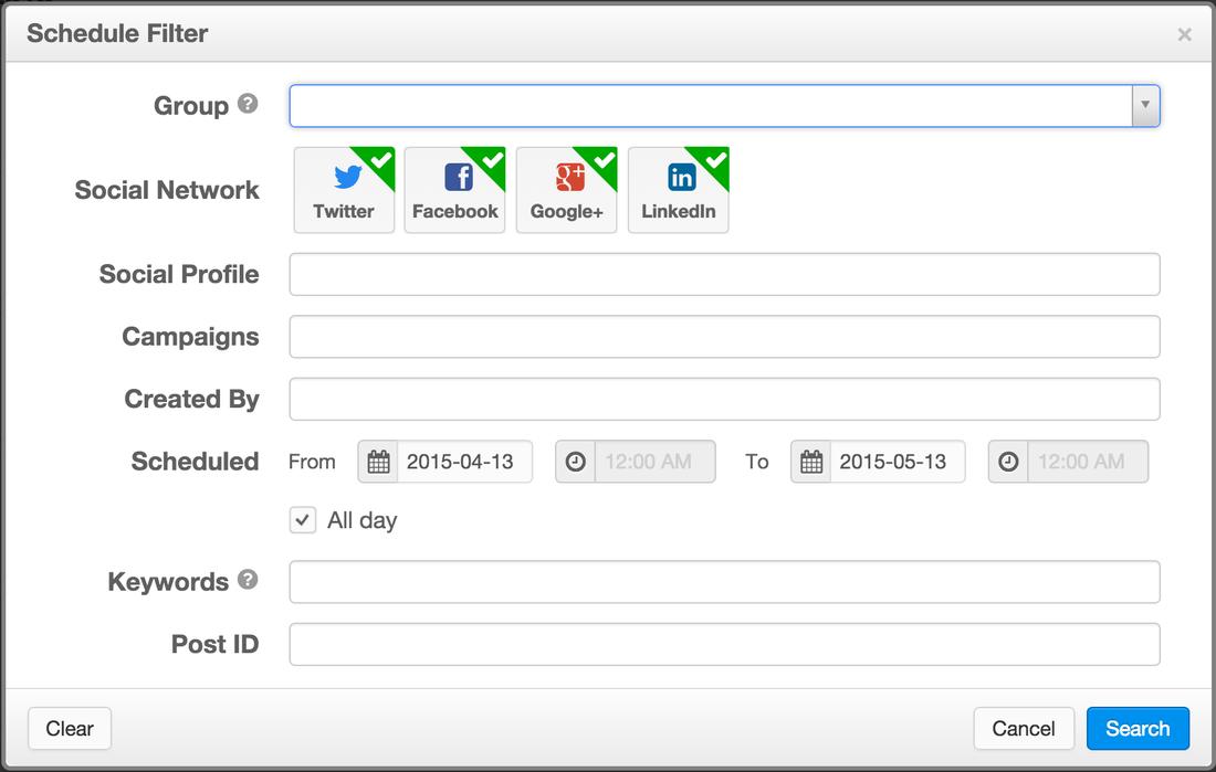 Rignite - Schedule Filter