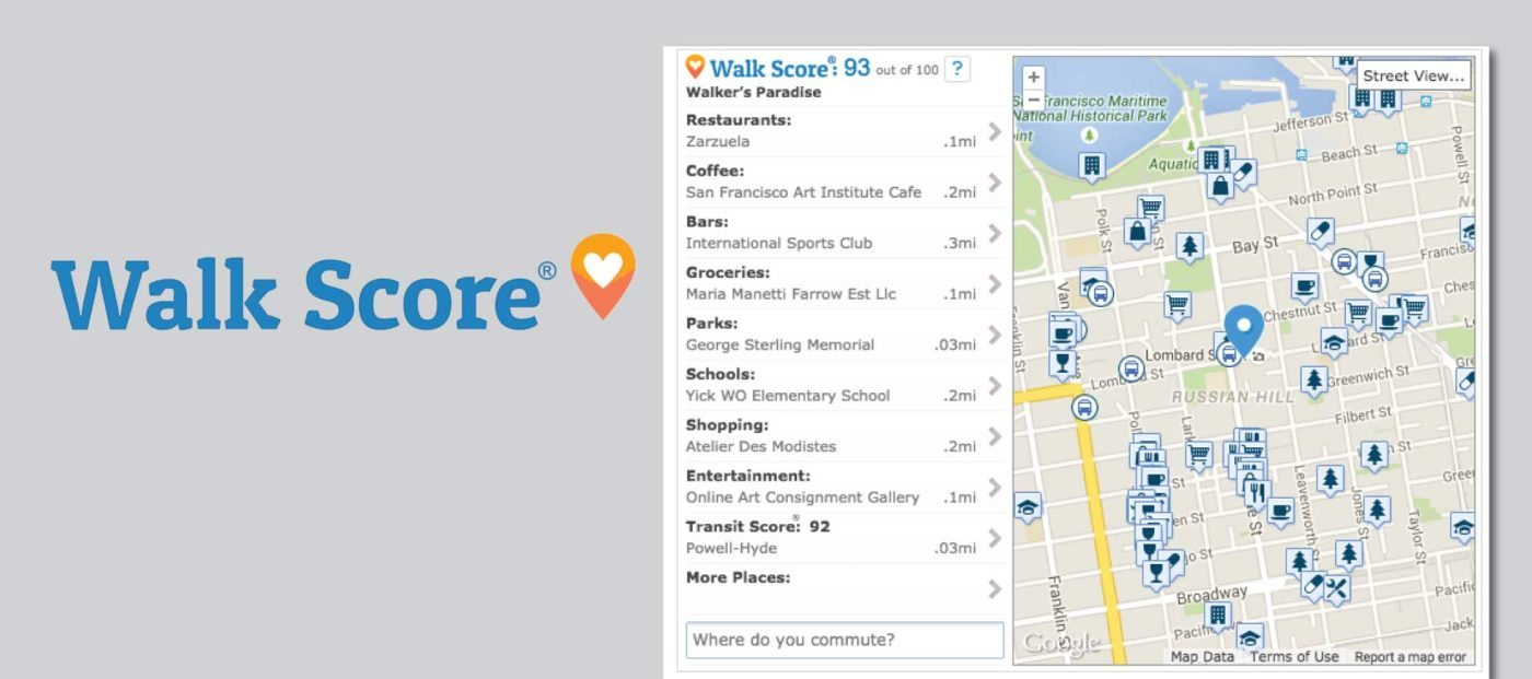 Walk Score strips ads from free, embeddable neighborhood info tool