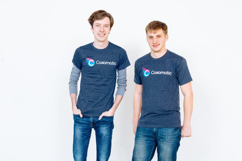 Alex Bowman (left) and