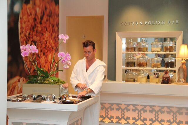 Chris Levitt at the spa.
