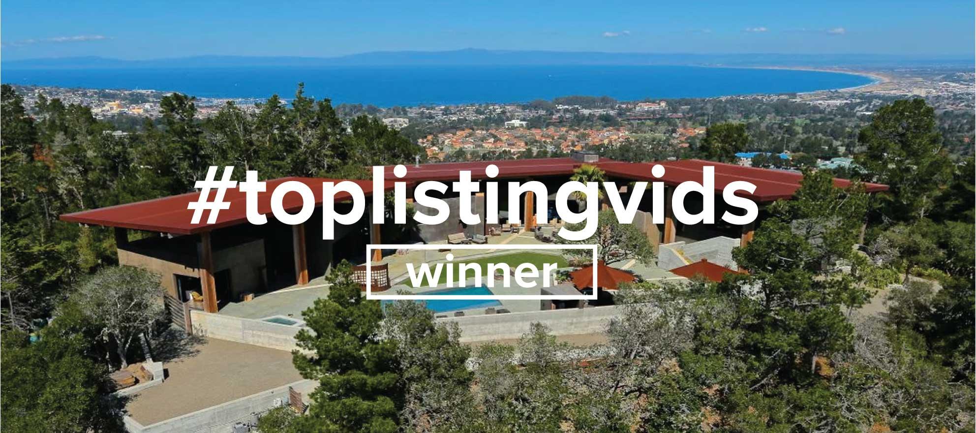 Aerial revelry of California hilltop gem nabs #toplistingvids win