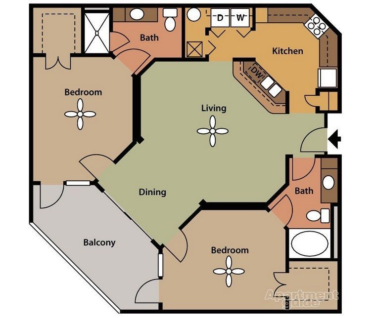 Apartment Guide's floor plan model.