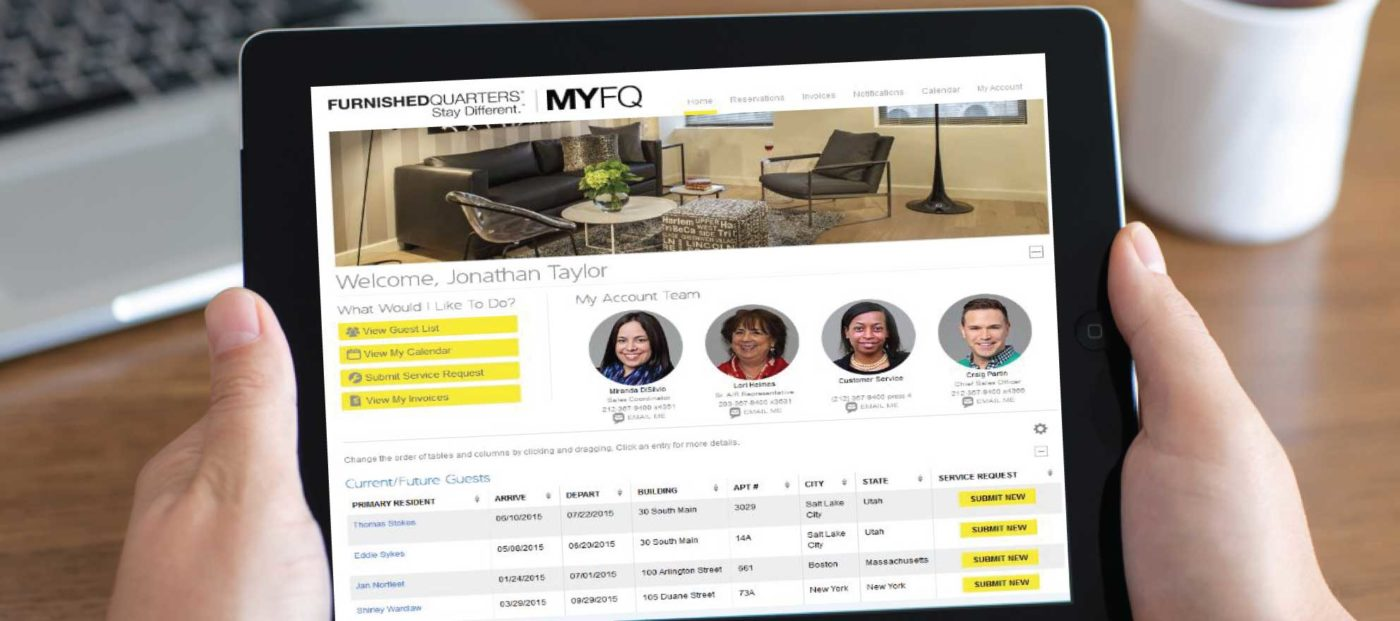Furnished Quarters launches management tool for corporate housing industry