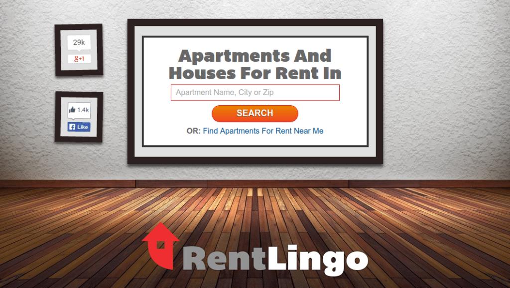 RentLingo's home page.