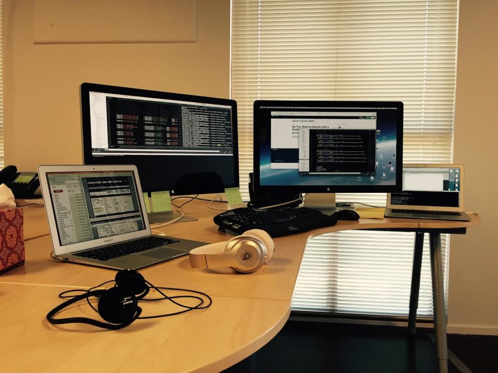 Thaddeus Latsa's desk at work.