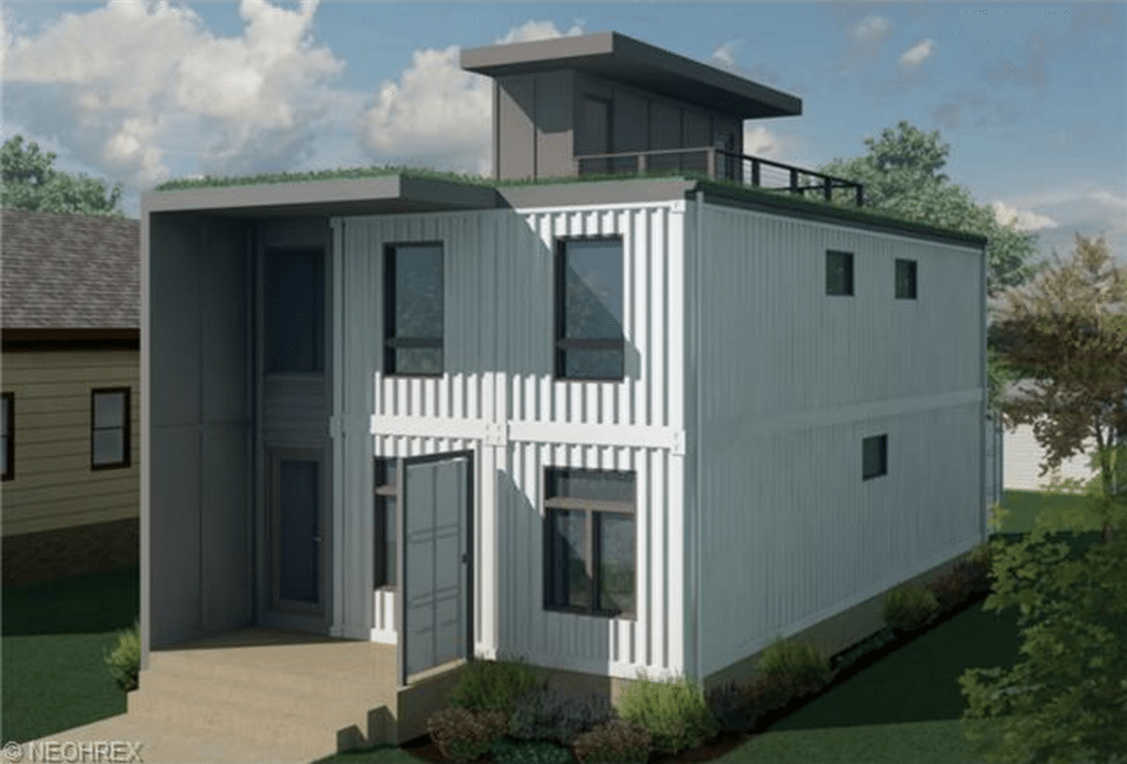 2-story shipping container home