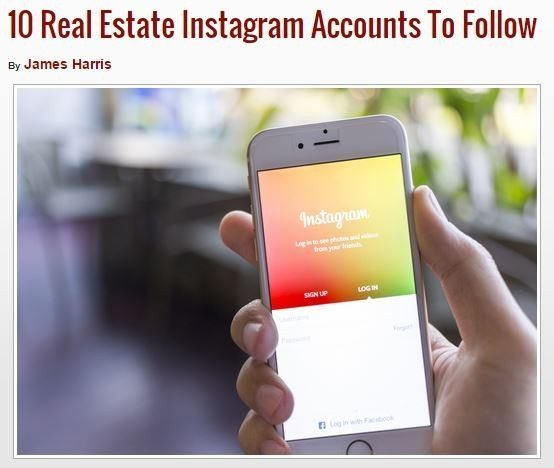 real estate instagram accounts