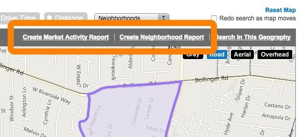 Realtors Property Resource's click-to-create report tool.
