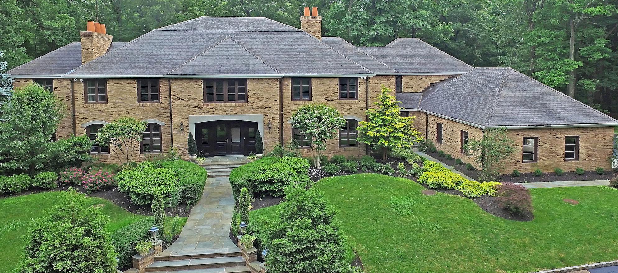 Luxury listing of the day: Brick estate on Bernardsville Mountain, New Jersey
