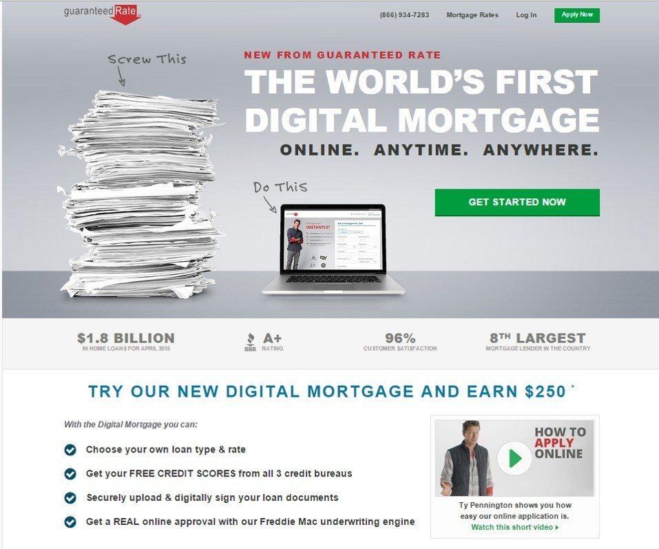 Guaranteed Rate's digital mortgage