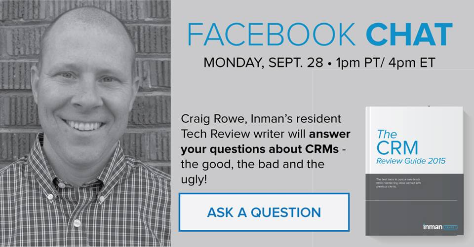 Facebook chat with Craig C. Rowe about CRMs