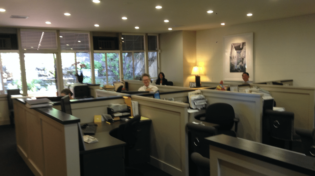 View of The Grubb Co.'s Montclair office, upstairs.