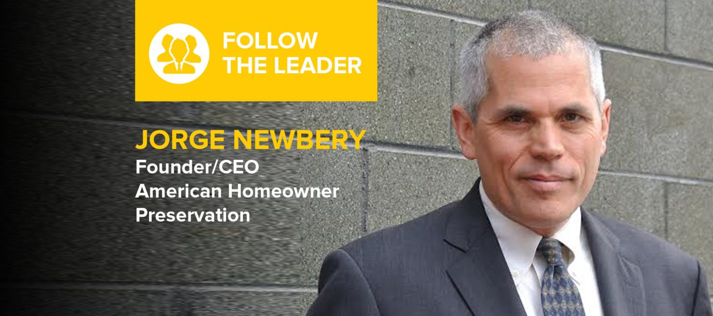 Jorge Newbery: 'Patience, focus, determination, optimism and hard work are the ingredients to any successful endeavor'