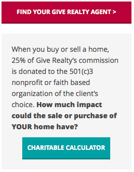 Giveback Realty's 'charitable calculator.'