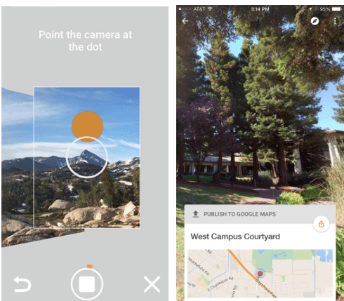 Promotional image of Google Street View app