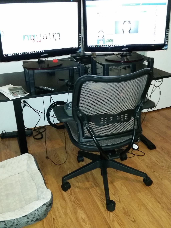 Bryn Kaufman's workspace.