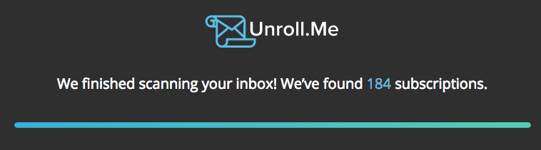 unrollme screenshot