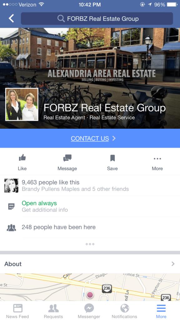 social media facebook bus page