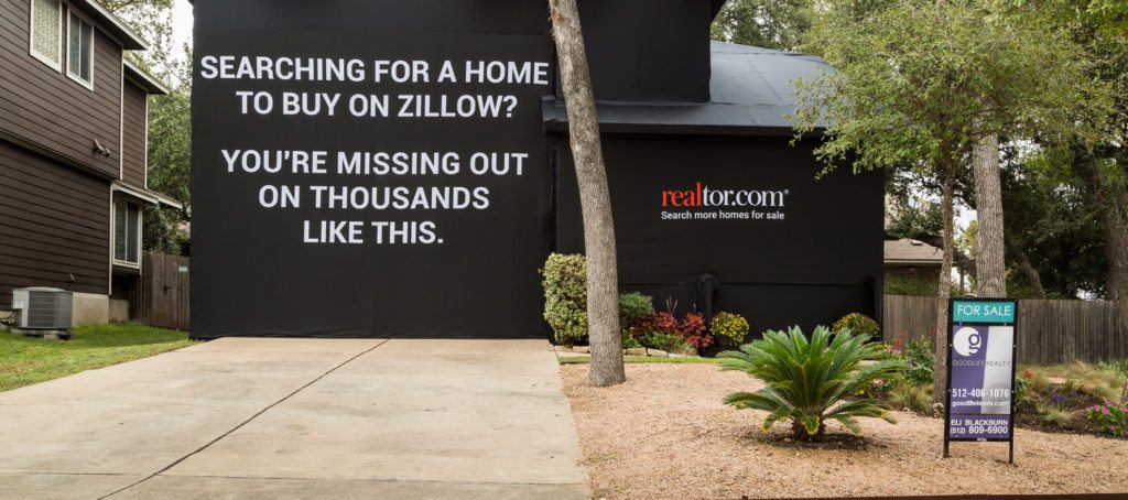 Realtor.com vs. Zillow: 'Experiential Ad' Wraps Austin Home