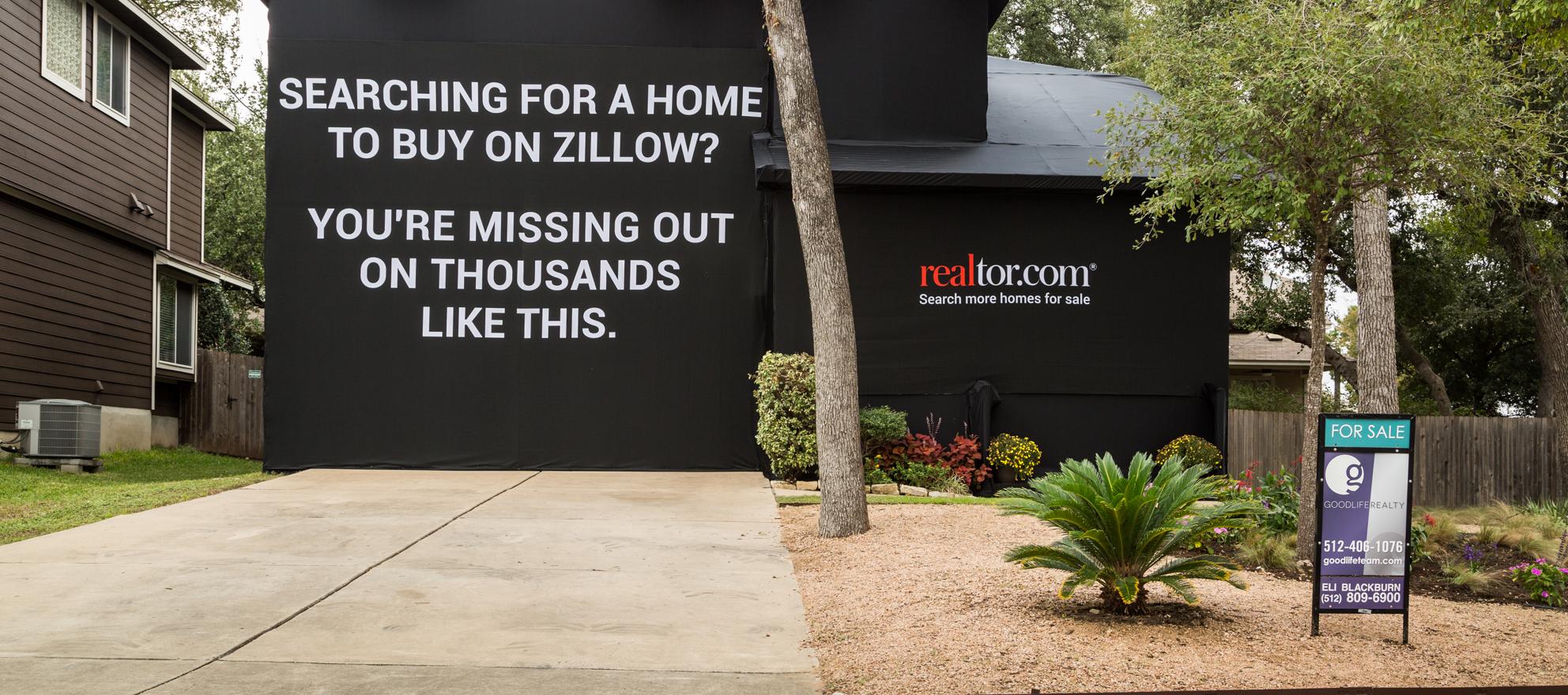 Realtor.com vs. Zillow: 'Experiential Ad' Wraps Austin Home