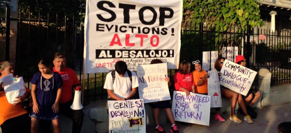 LA group protests Ellis Act evictions